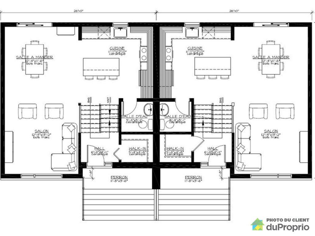 Plan De Studio Jumelée En Cote D Ivoire : Plan maison jumele gallery of plans de plainpied