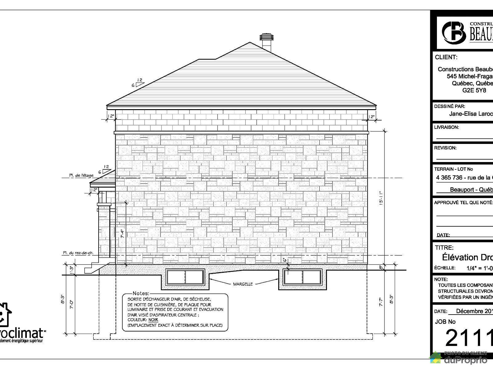 Maison vendre beauport 561 rue de la girouille - Plan de maison quebec ...