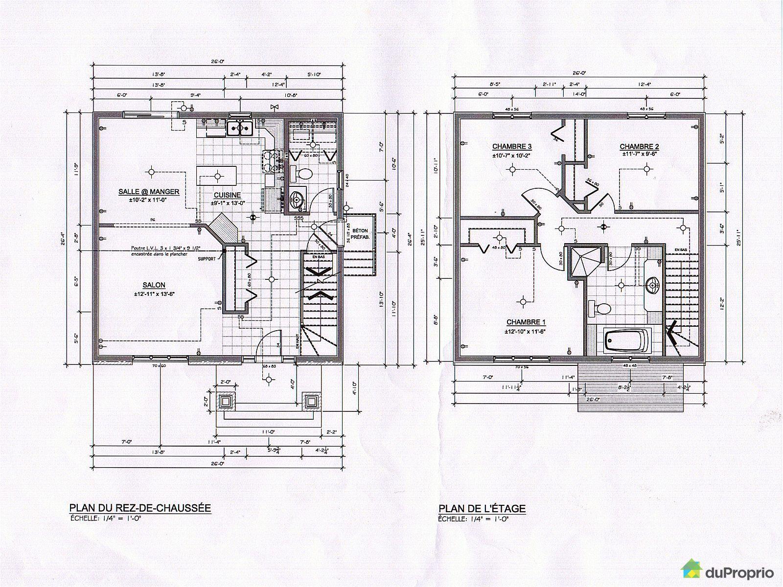 Maison vendu donnacona immobilier qu bec duproprio 574846 - Plan de maison quebec ...