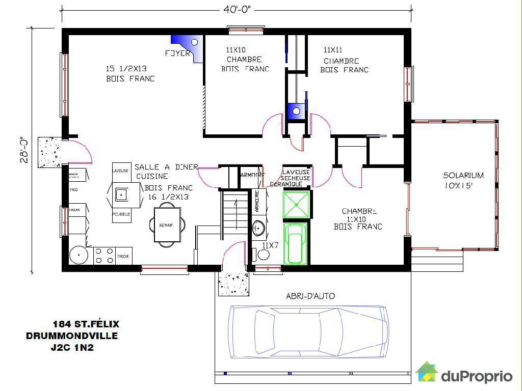 Maison a vendre quebec related keywords maison a vendre - Plan de maison quebec ...