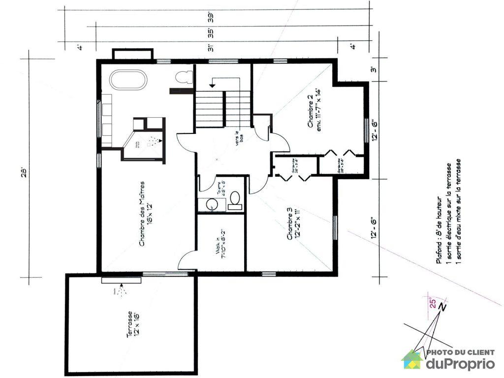 plan maison 7 m large