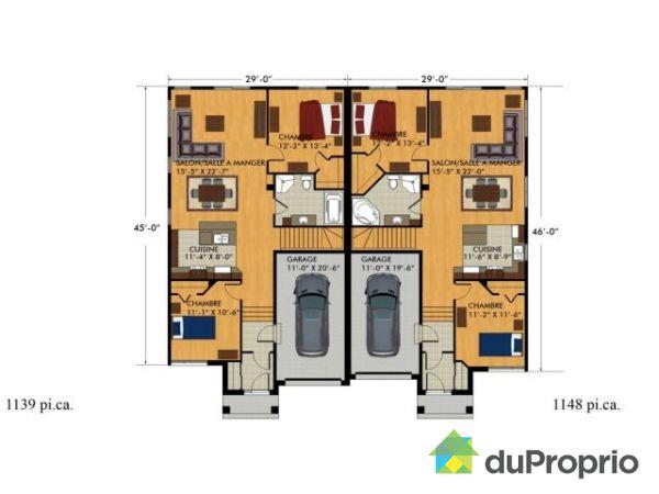 high quality amazing plan maison jumelee gratuit saint denis fille ahurissant with maison jumele