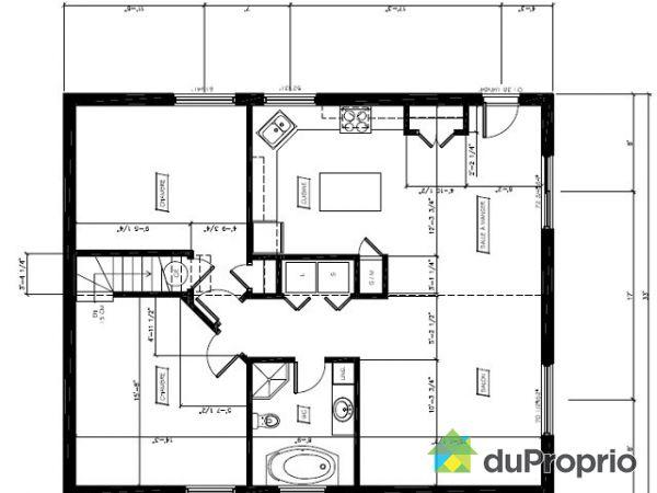 plan maison bungalow gratuit