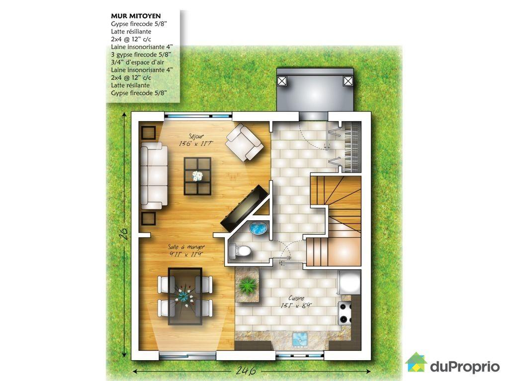 Connu Plan maison de ville - madame ki JF73