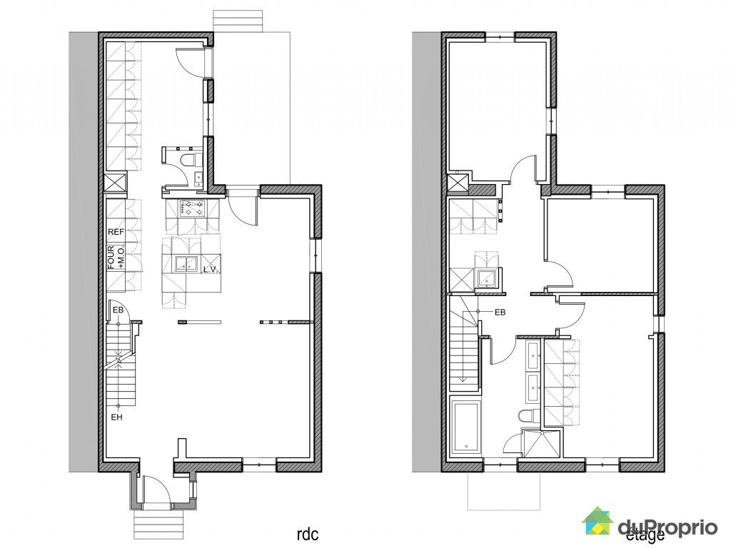 Plan maison de ville images for Plan maison sud ouest