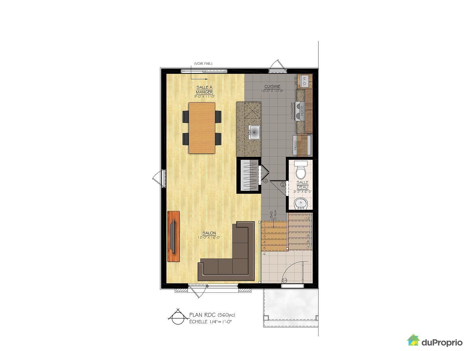 Maison neuve vendre st apollinaire mod le l 39 esp rance - Plan de maison quebec ...