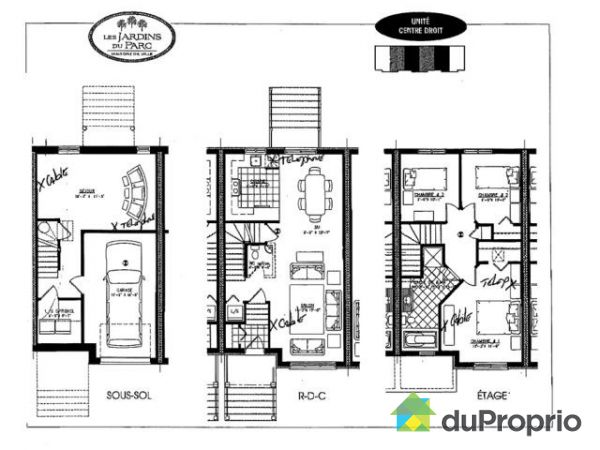 Célèbre Plan Maison A Vendre. Fabulous Plan De Maison A Vendre U U Gris  WJ55