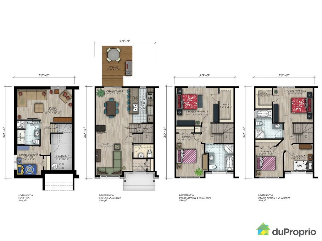 Plan maison qc for Plan maison de ville