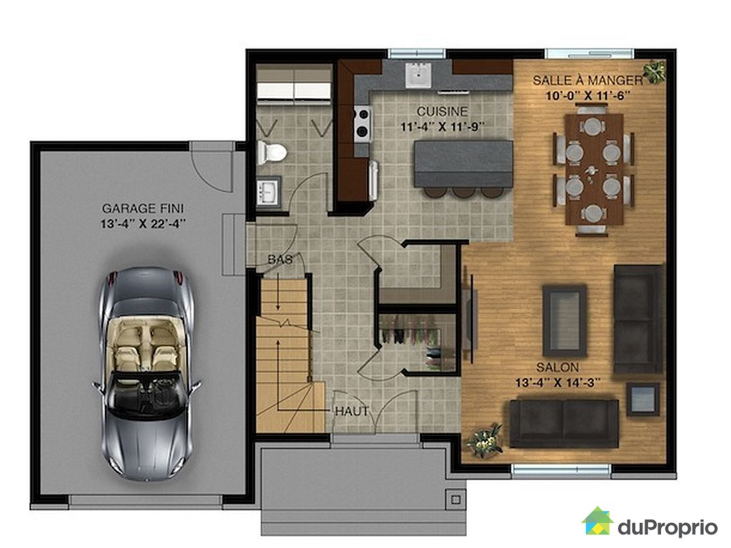 Plan maison etage for Plan maison deux etages