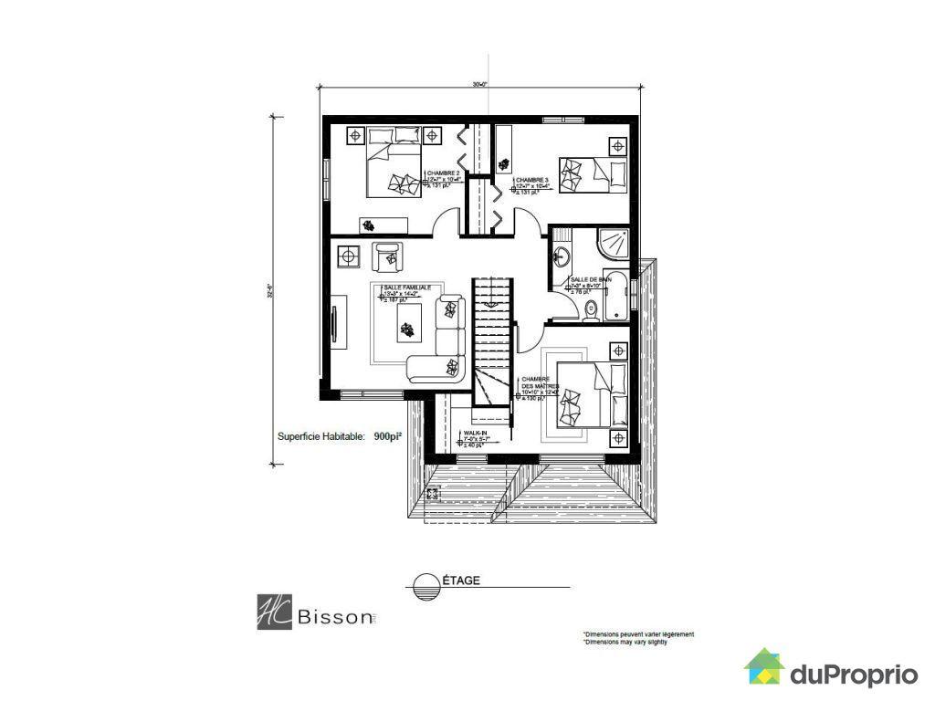 Maison neuve vendre chambly rue jean casgrain - Plan de maison quebec ...