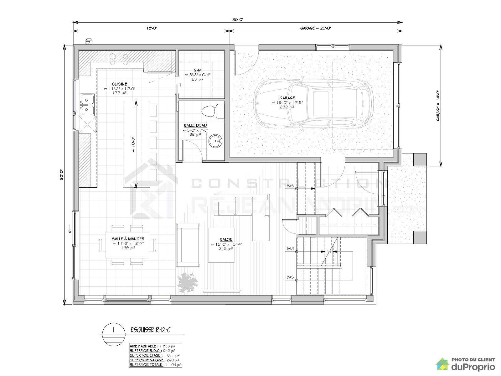 Maison neuve vendre l vis 3320 rue des coutances - Plan de maison quebec ...