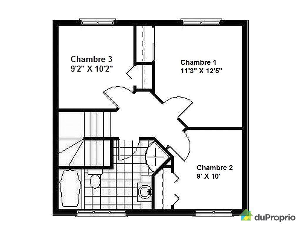 plan maison 8 x 10