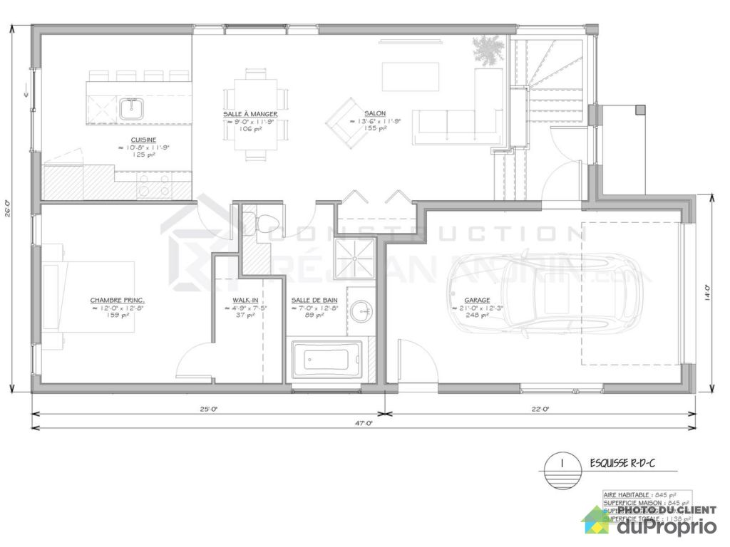 Plan maison nicolas construction for Maison nicolas