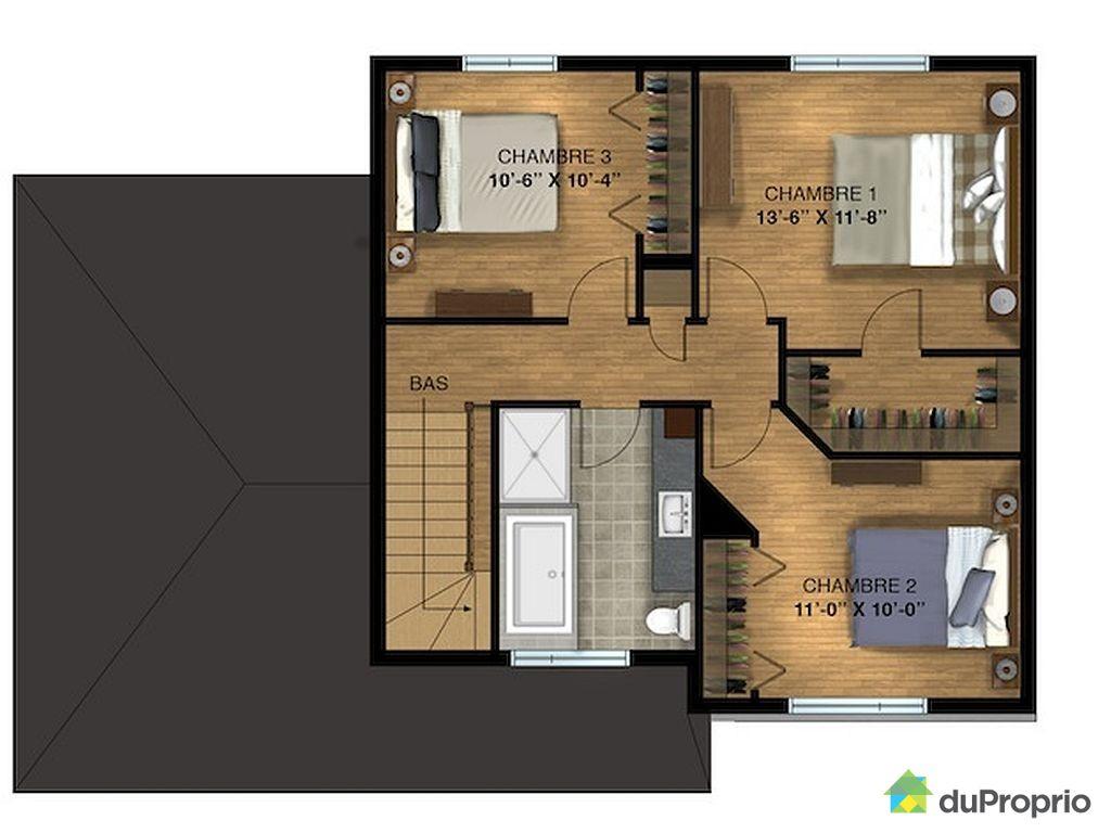 Model de plan de maison contemporaine for Plan de maison neuve