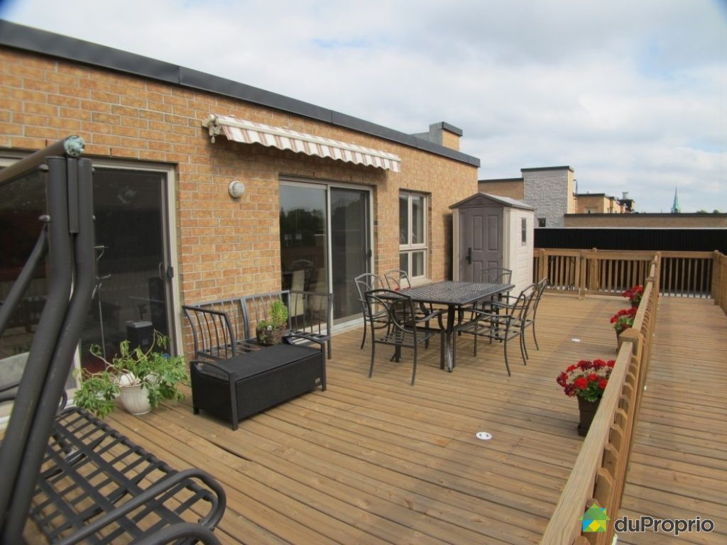 Condo sold in montreal duproprio 454319 for Use terrace in a sentence