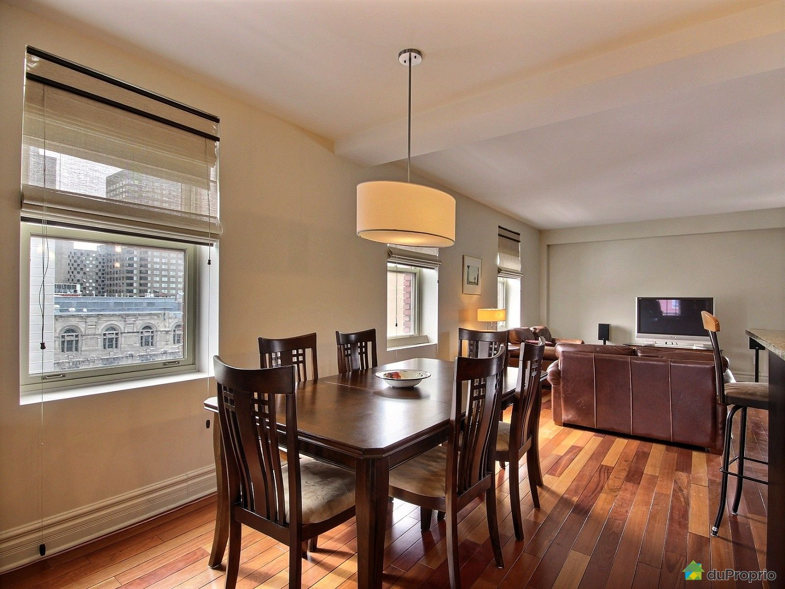 Condo vendu montr al immobilier qu bec duproprio 593211 for Salle a manger montreal