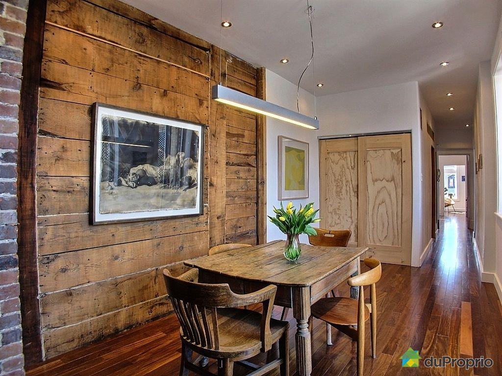 Condo vendu montr al immobilier qu bec duproprio 412253 for Salle a manger bois exotique