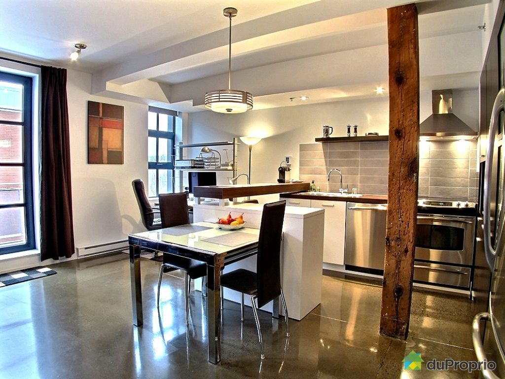 Condo vendu montr al immobilier qu bec duproprio 478039 for Salle de manger montreal