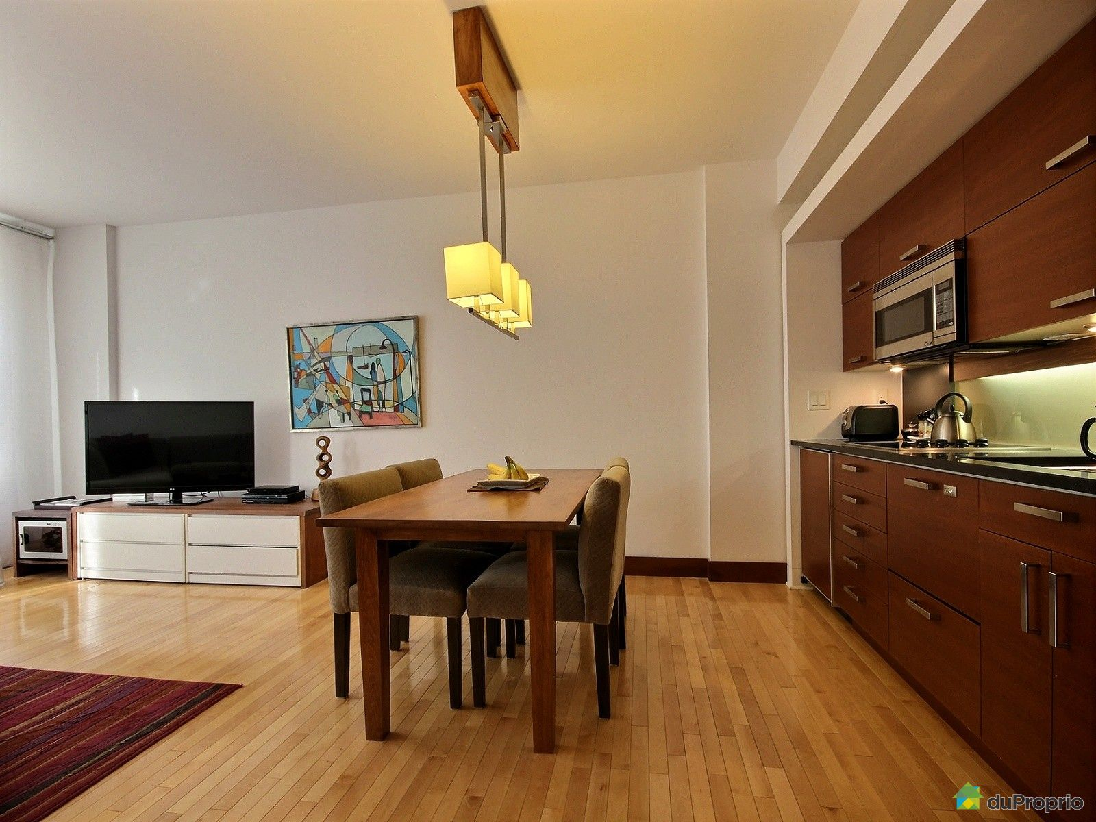 Condo vendu montr al immobilier qu bec duproprio 659757 for Salle a manger a montreal