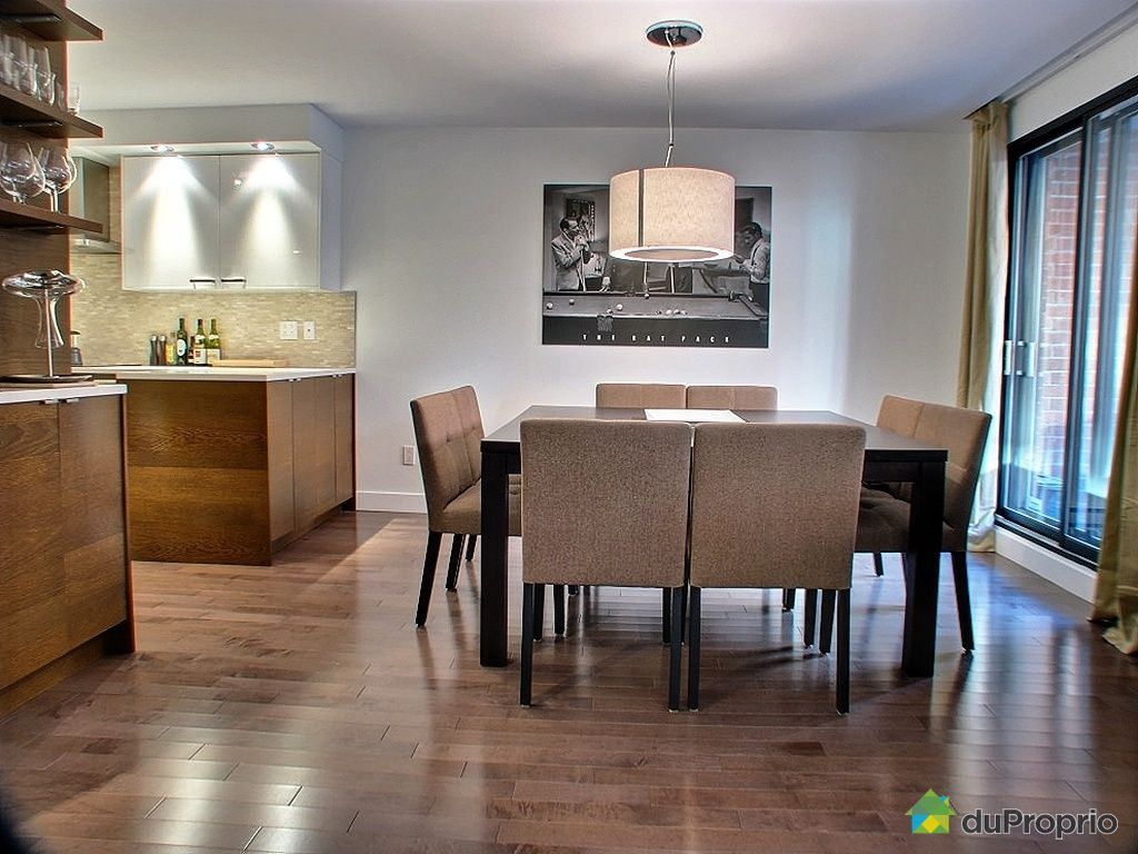 Condo vendu montr al immobilier qu bec duproprio 250541 for Salle a manger a montreal