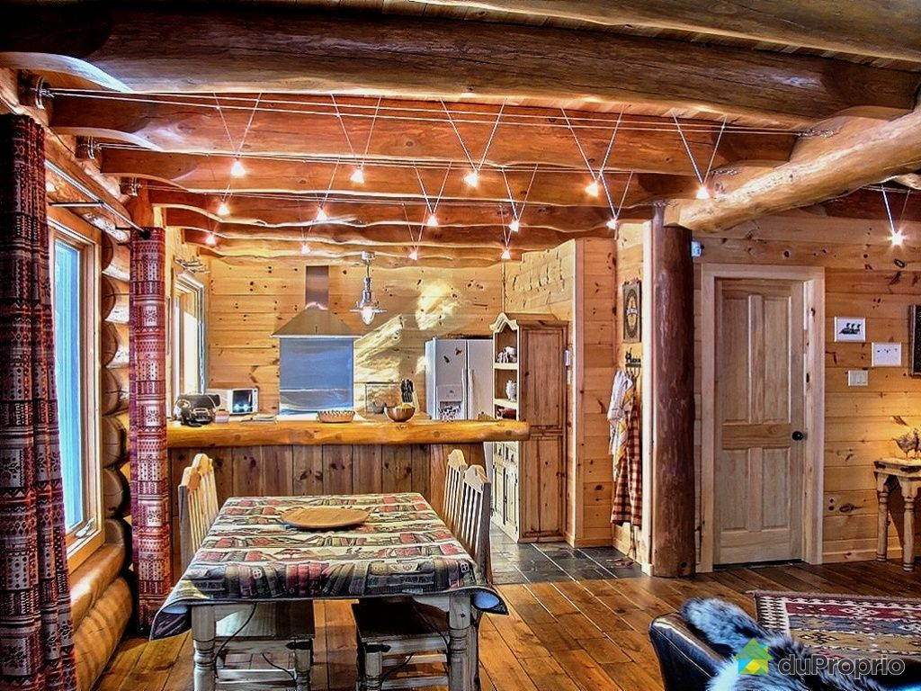 Wallpaper chalet en bois rond joy studio design gallery for Micro maison bois