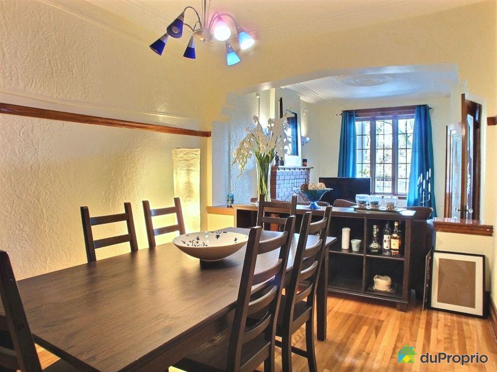 Duplex vendu montr al immobilier qu bec duproprio 370358 for La salle a manger montreal