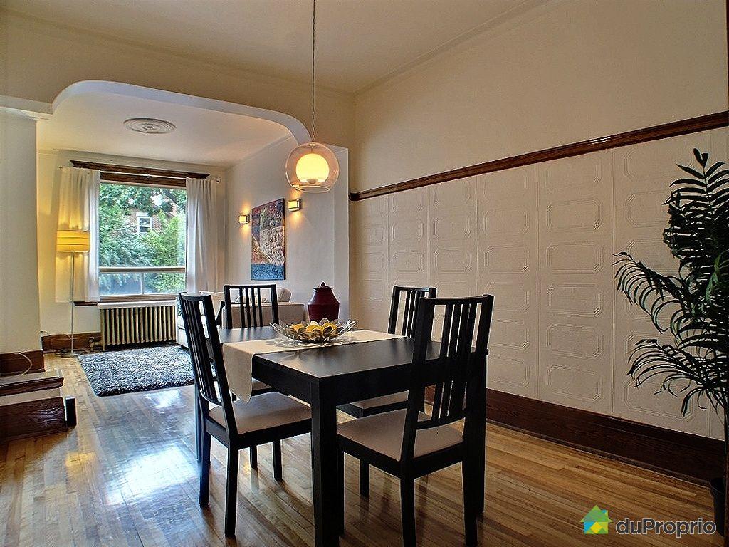 Duplex vendu montr al immobilier qu bec duproprio 354443 for La salle a manger montreal