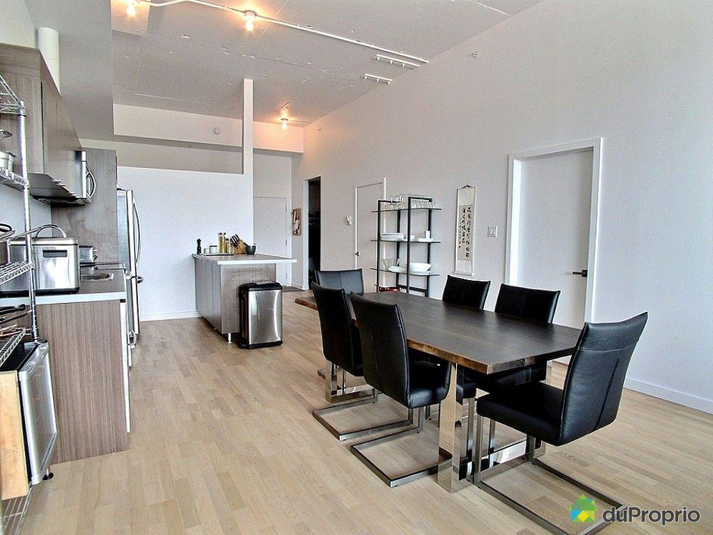 Loft vendu montr al immobilier qu bec duproprio 524666 - Tafel salle a manger loft ...