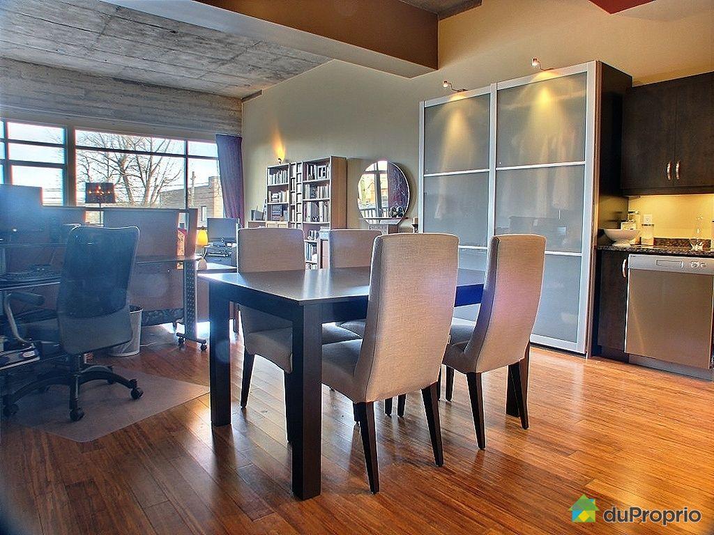 Loft vendre montr al 204 735 avenue 1 re immobilier for Salle a manger loft