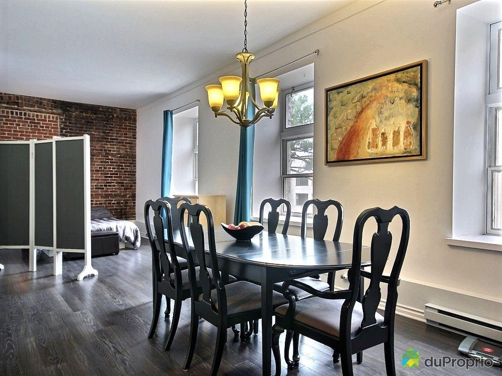 Loft vendre limoilou 405 598 8e avenue immobilier for Salle a manger loft
