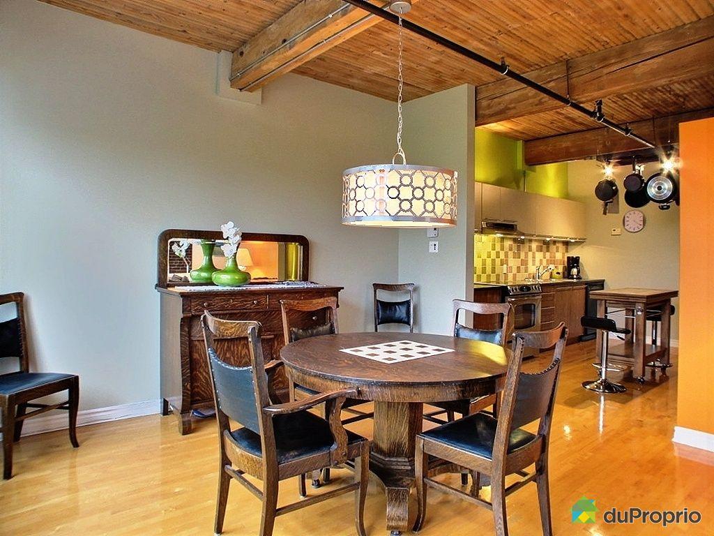 Loft vendu montr al immobilier qu bec duproprio 367538 for Salle a manger loft