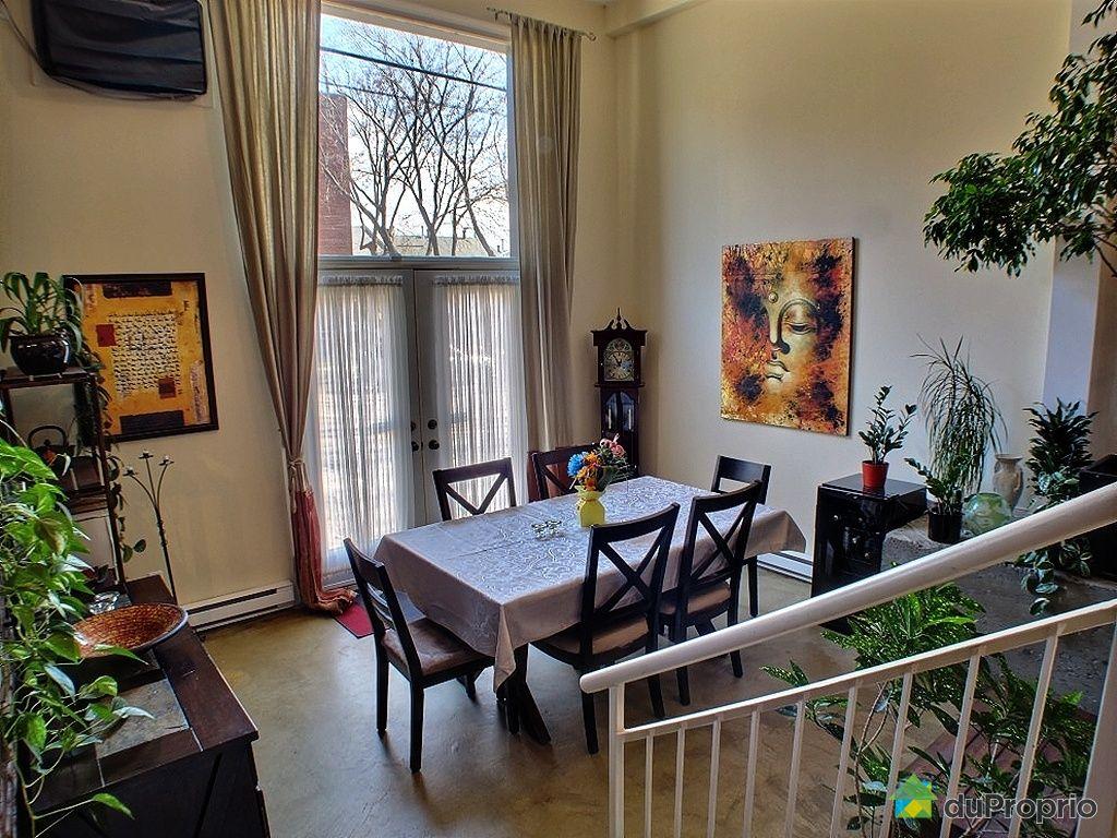 Loft vendu montr al immobilier qu bec duproprio 324031 for Salle a manger loft