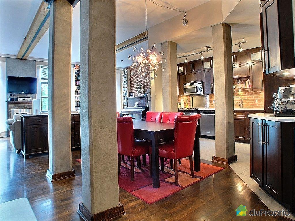 Loft vendu montr al immobilier qu bec duproprio 342709 for Salle a manger loft