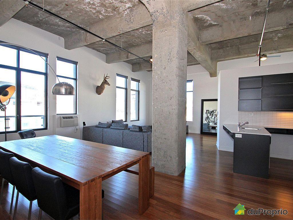 Loft vendu montr al immobilier qu bec duproprio 391652 for Salle de manger montreal