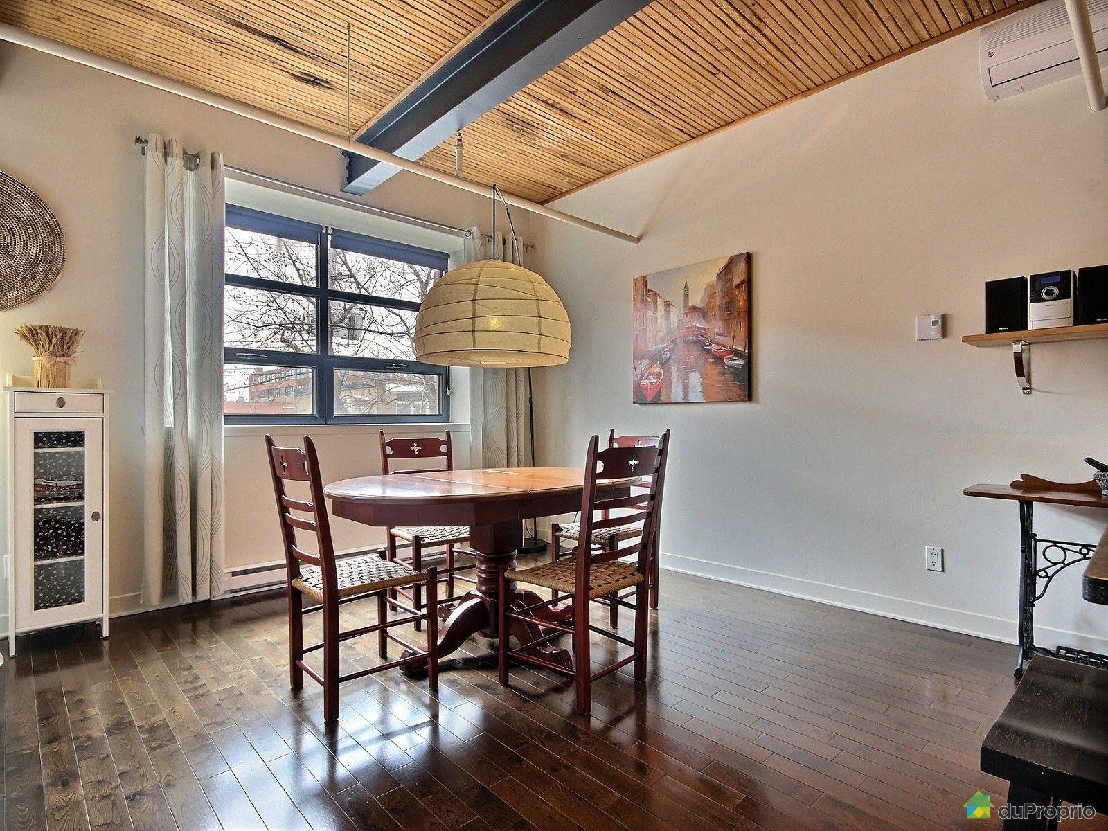 Loft vendu montr al immobilier qu bec duproprio 605891 for Salle a manger loft