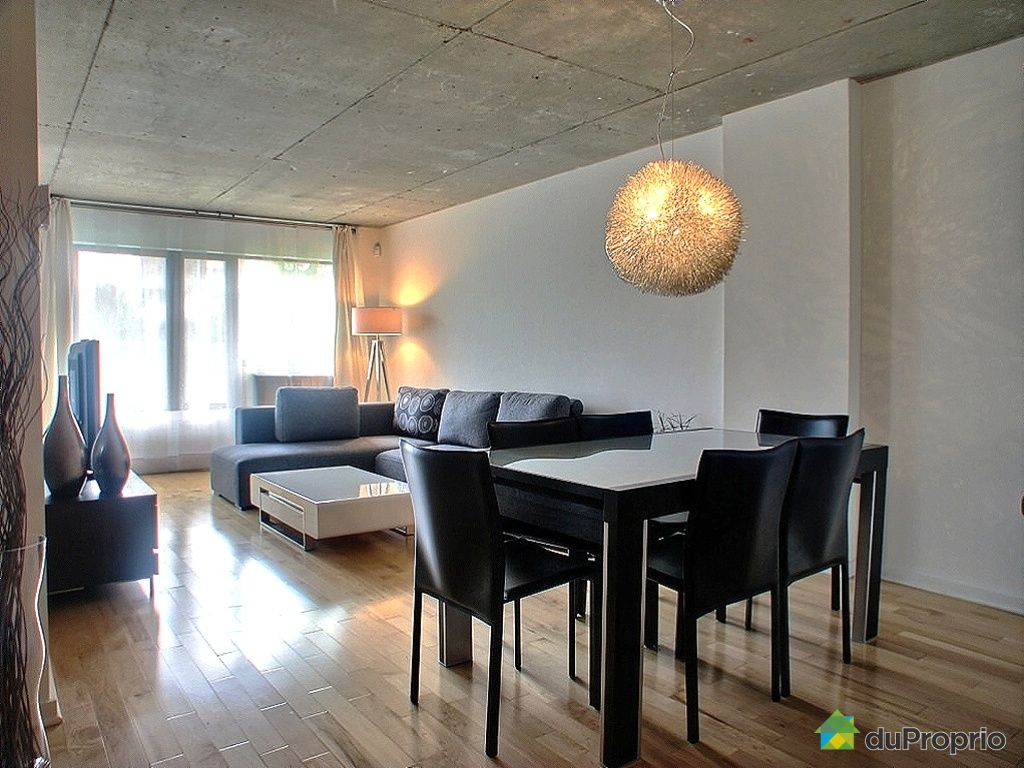 Condo vendu montr al immobilier qu bec duproprio 256713 for Salle a manger montreal