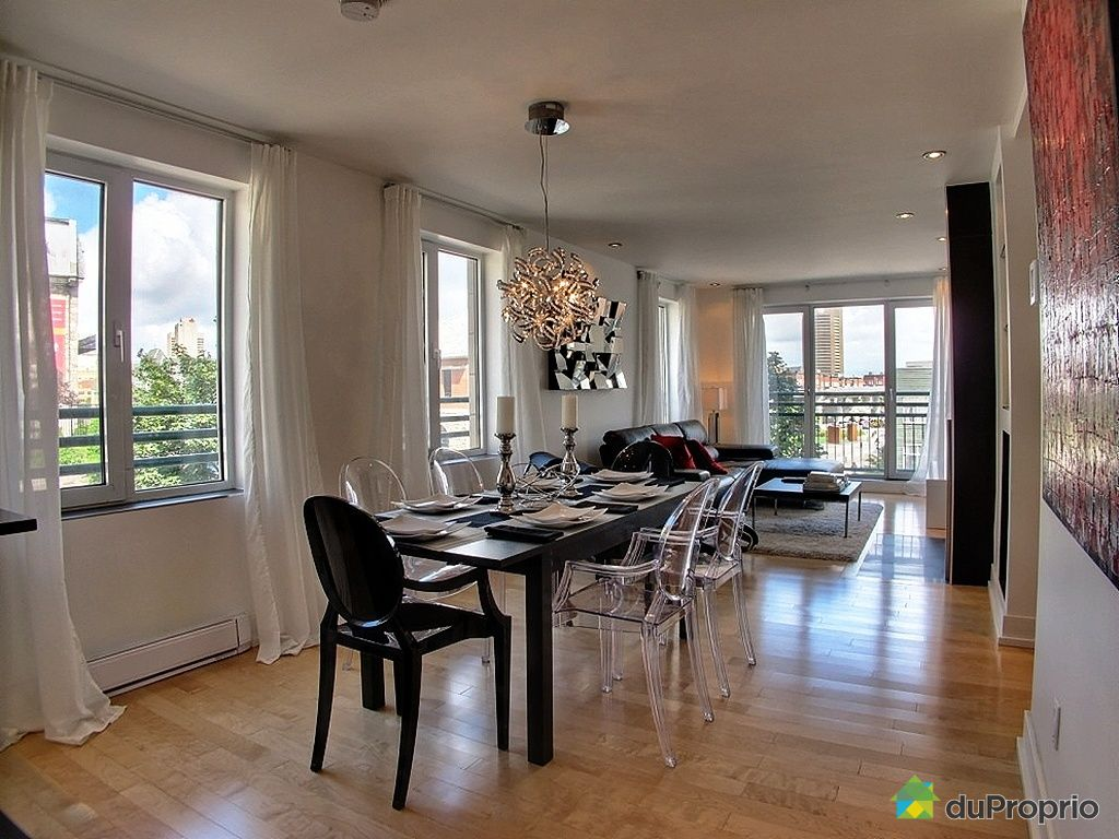 Condo vendu montr al immobilier qu bec duproprio 446570 for Salle a manger a montreal