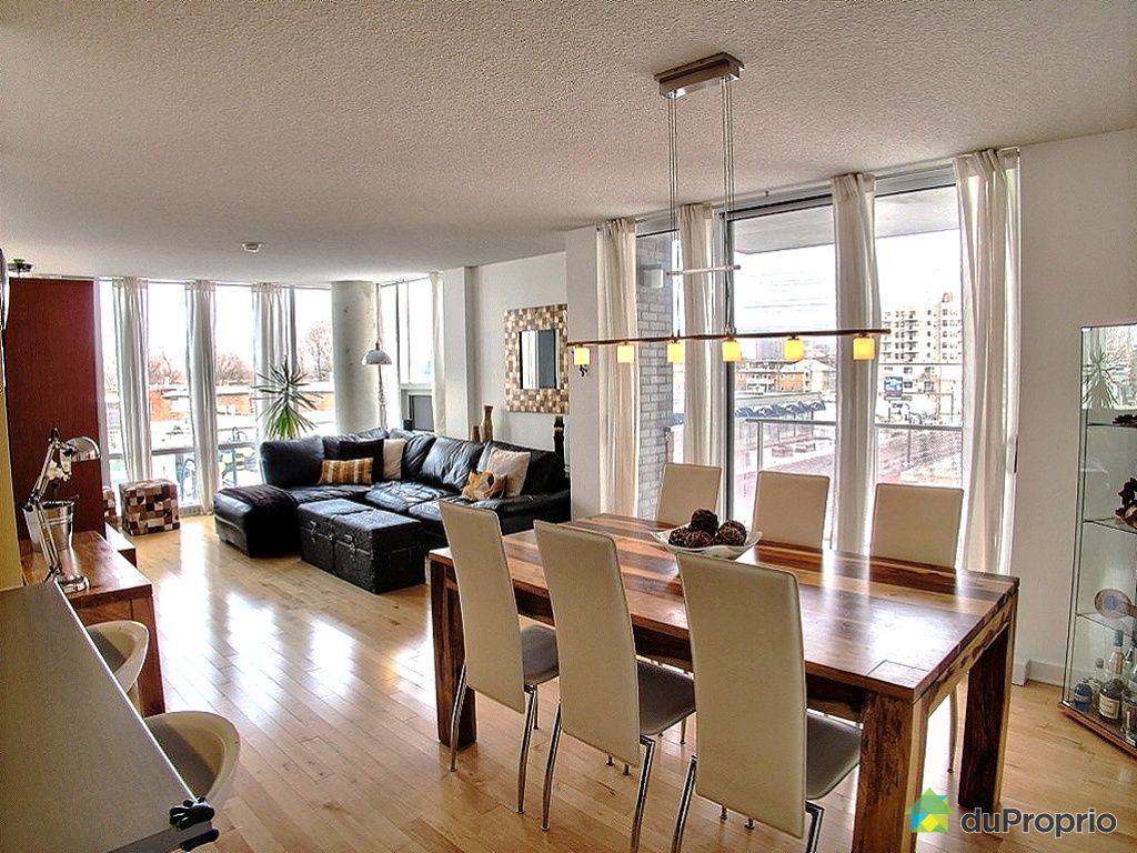 Condo vendu montr al immobilier qu bec duproprio 392171 for Luminaires suspendus salle manger