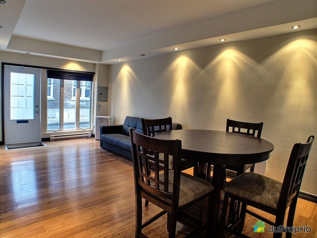 Loft vendu montcalm immobilier qu bec duproprio 267766 for Salle a manger loft