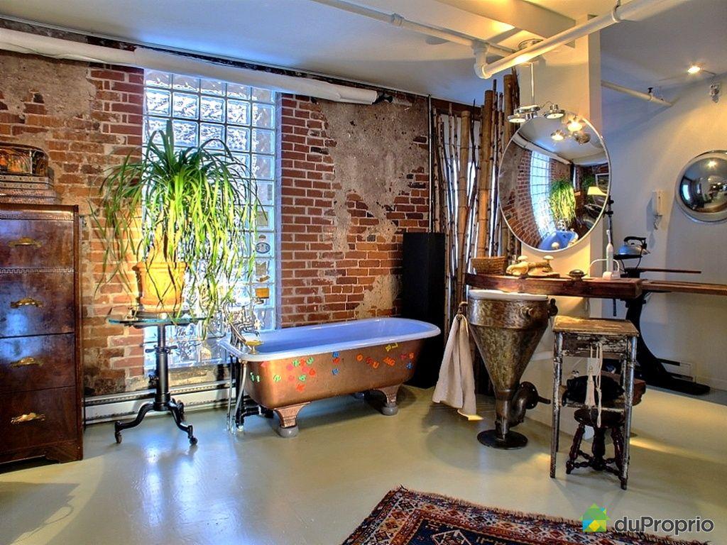 Loft vendre saint roch 245 rue christophe colomb est - Salle de bain loft new yorkais ...