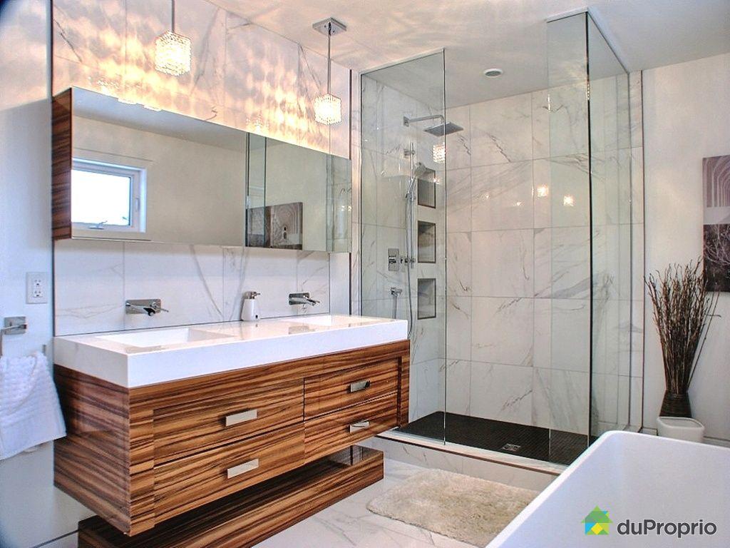 Grande salle de bain contemporaine avec plus de clarté images ...