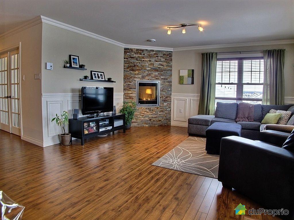 D coration salon avec foyer electrique for Decoration foyer electrique et television