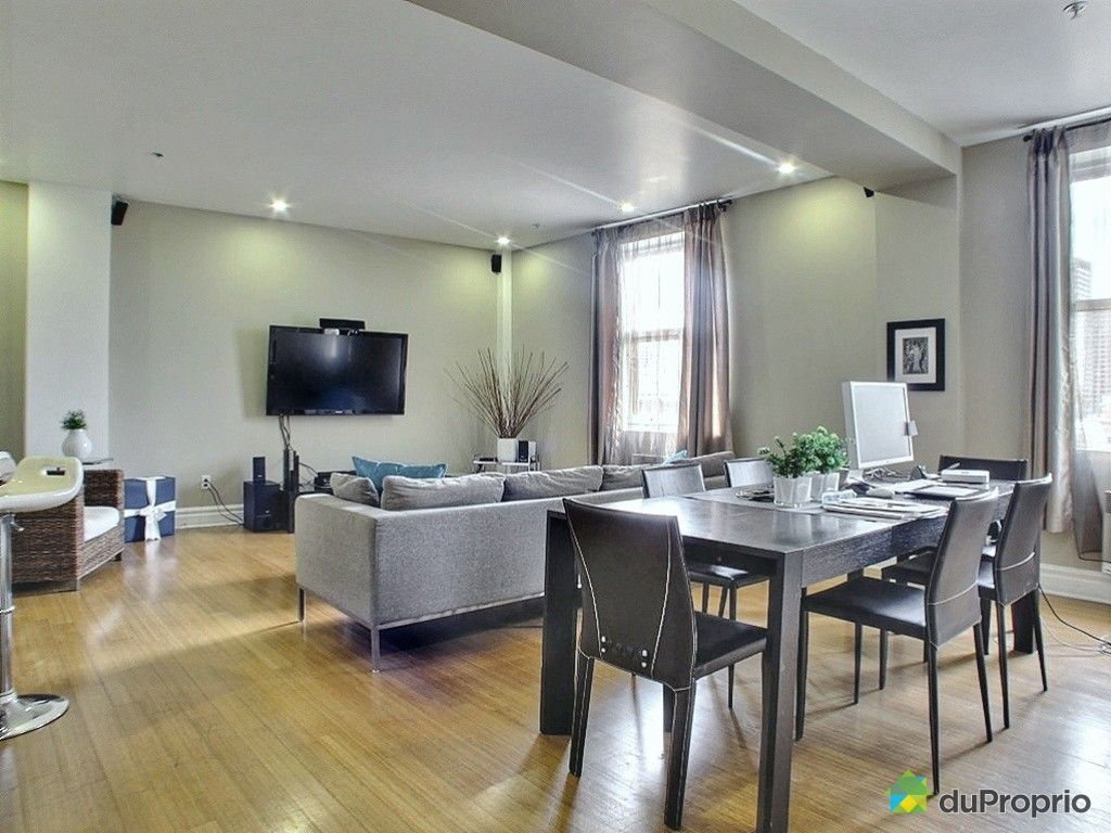 Condo vendre montr al 901 10 rue saint jacques for Decoration salon moderne salle a manger