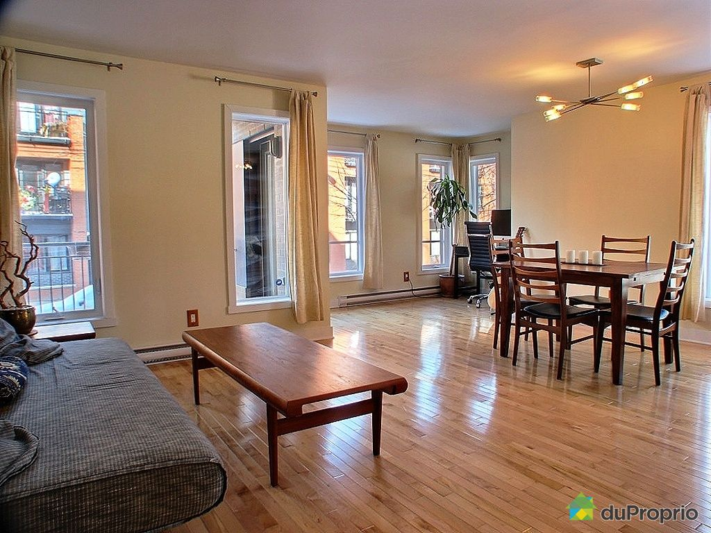 Condo vendu montr al immobilier qu bec duproprio 301457 for Salle a manger a montreal