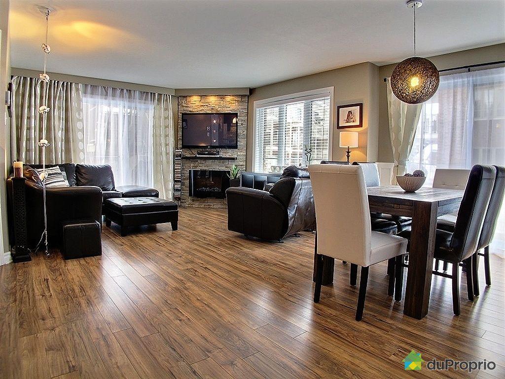 Condo vendu st hubert immobilier qu bec duproprio 404530 - Couleur cuisine salon air ouverte ...
