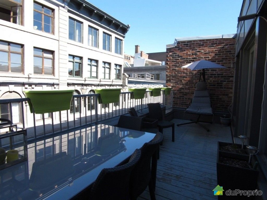 Loft sold in montreal duproprio 607757 for Terrace 45 qc