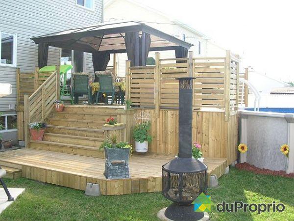 Terrasse bois occasion vendre diverses for Plans patios et terrasses