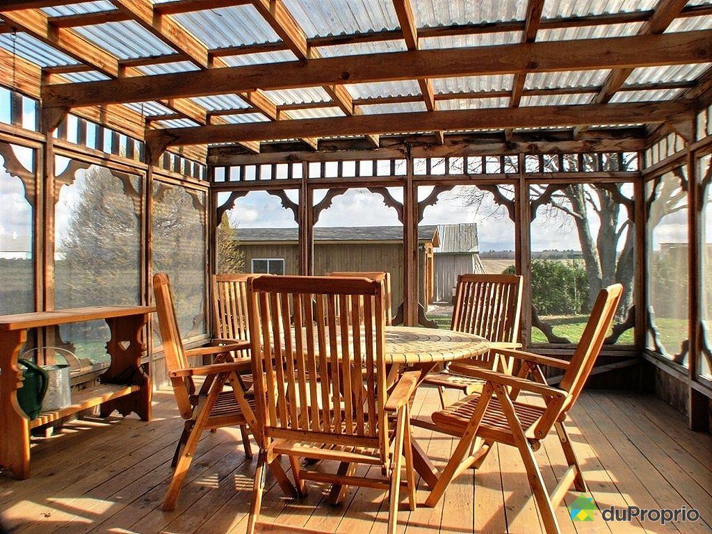 V randa sur terrasse en bois - Construction veranda sur terrasse ...